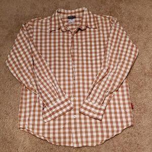 Men's Patagonia Gingham Plaid Butron Down Shirt S